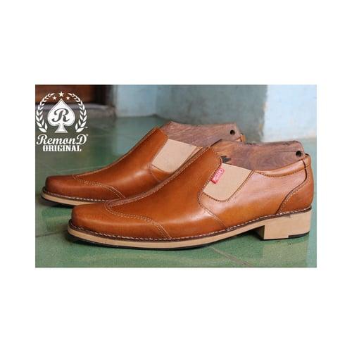 REMOND Sepatu Pantofel Formal Original Kulit Asli