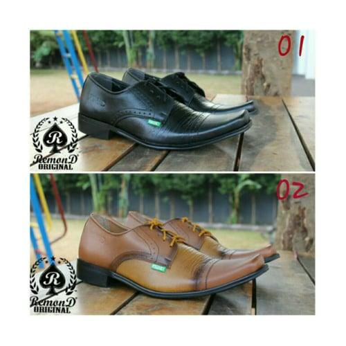 REMOND Sepatu Pantofel Kulit Asli Original Pria