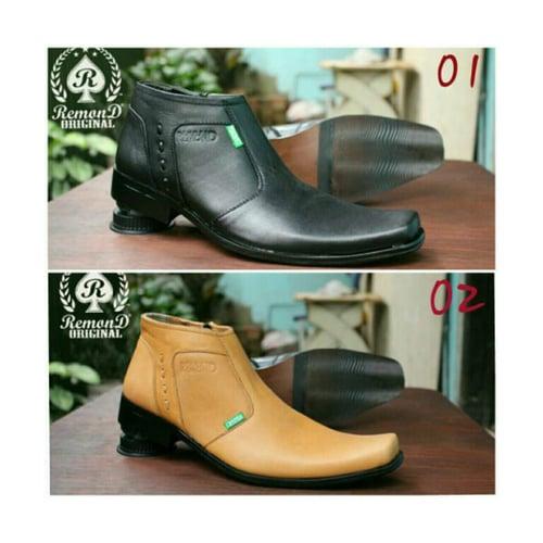 REMOND Sepatu Pantofel Zipper Resleting Original Kulit Asli