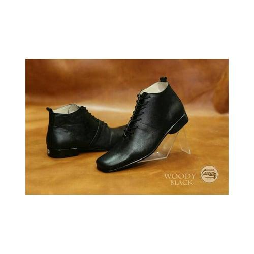 CEVANY Sepatu Pantofel Formal Kulit Asli Original