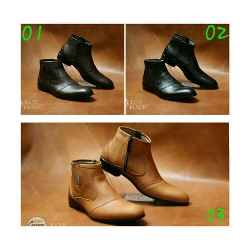 CEVANY Sepatu Pantofel Original Kulit Asli FOX