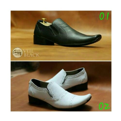 CEVANY Sepatu Pantofel Original Kulit Asli Opec White