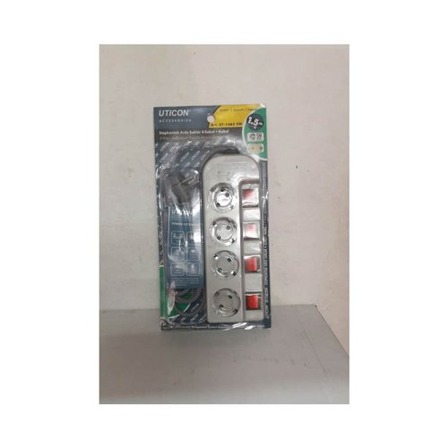 Uticon Stopkontak + Kabel 1,5M 4 Lubang