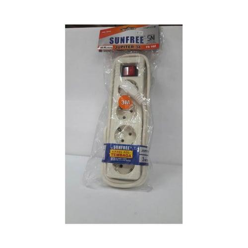SUNFREE Stopkontak + Kabel 3M 4 Lubang