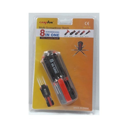 Obeng Set 8 pcs + Senter QC-178