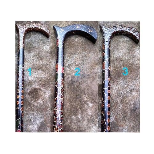 Tongkat Teken Manula Kayu Batik