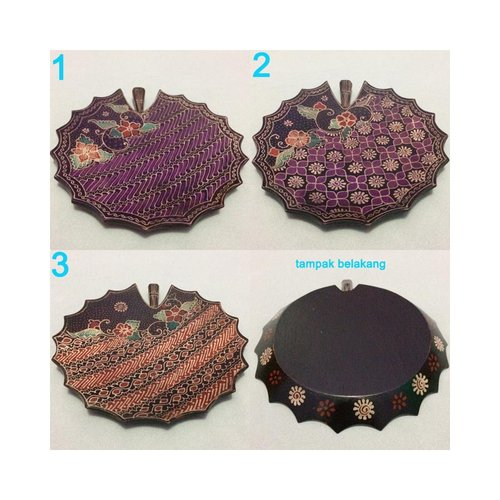 Tray Bentuk Teratai Kayu Batik