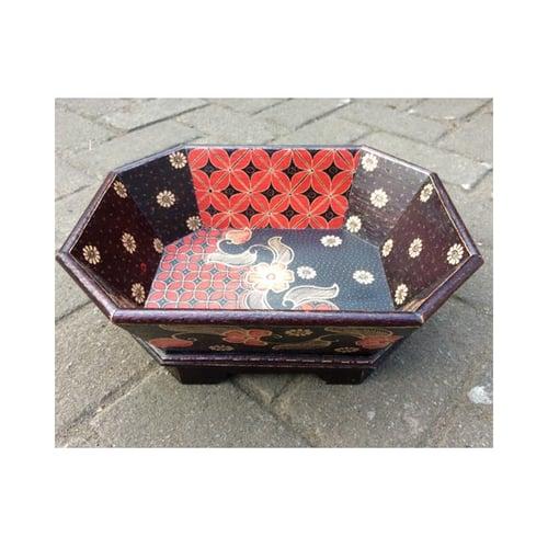 Tray Mangkok Buah Dan Sayur Kayu Batik Artistik