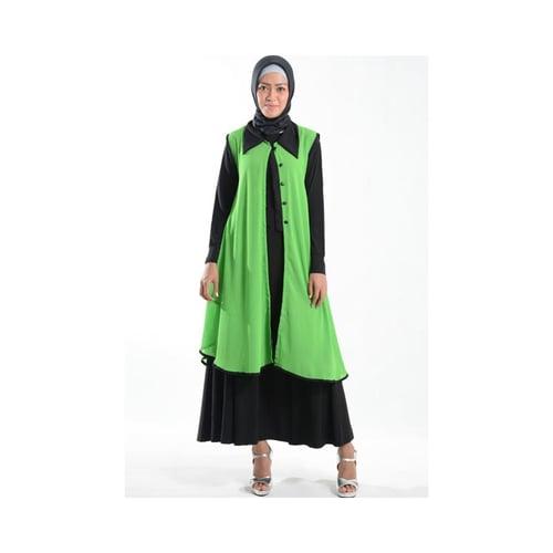 Cardigan Outer Cantik Bahan Ceruti Muslim Gamis Hijau