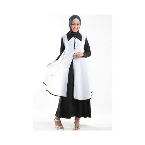 Cardigan Outer Cantik Bahan Ceruti Muslim Gamis Putih