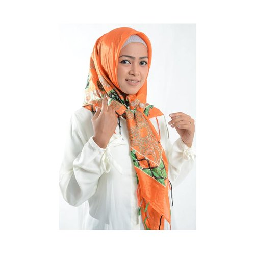Jilbab Cantik Segi Empat Orange