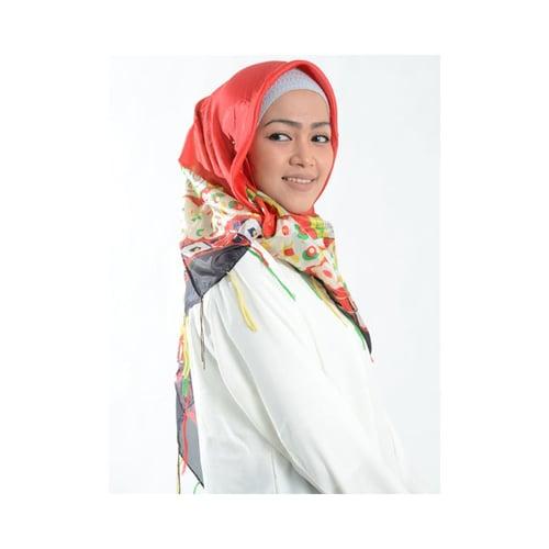 Jilbab Cantik Silk Sutera Merah