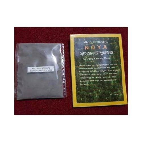 NOYA Masker Herbal Sarerang Kawung/Penghilang Flek Hitam Bekas Cacar dan Jerawat