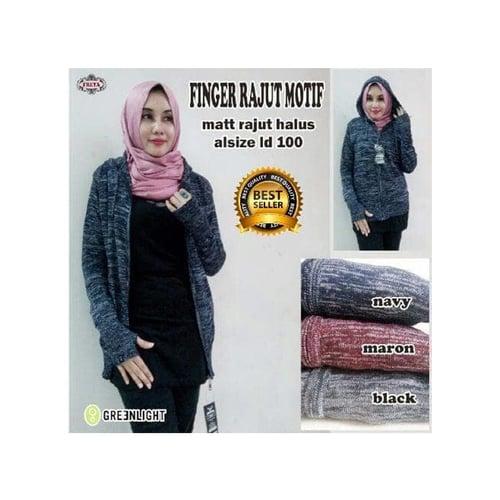 Sweater Rajut Wanita Finger