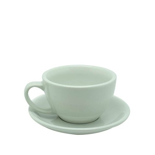 ACME  Latte Cup 280ml with Saucer White