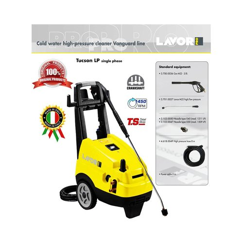 Cold Water High Pressure Cleaner Tucson 1211 LP Lavor Pro