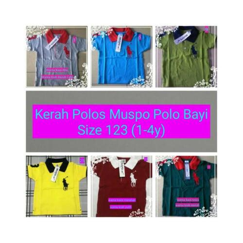 Kaos Kerah Polos Muspo Polo Size 1 2 3