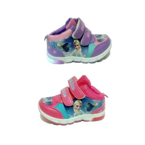 Sepatu Anak Sekolah Frozen Lampu Led