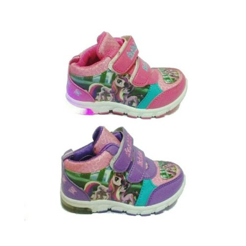 Sepatu Anak Sekolah Little Pony Lampu Led