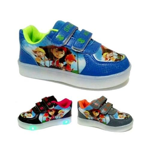 Sepatu Anak Sekolah Boboi Boy Lampu Led