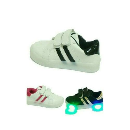 Sepatu Anak Sekolah Unisex Lampu Led