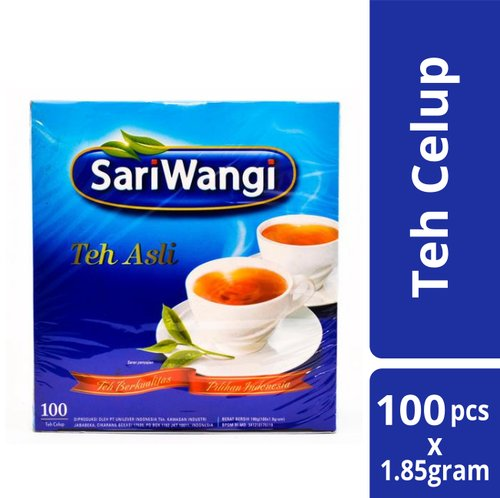 SARIWANGI Tea Bag 1.85gr 100 Sachet Isi 12pcs