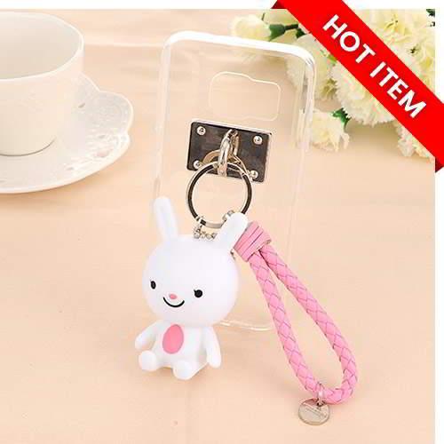 Doll Pendant Mobile Phone Shell DOTS Galaxy S7 White 6 pcs