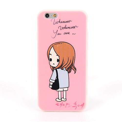 Girl Pattern Dots Descendants Of The Sun Iphone 6 Pink 6pcs