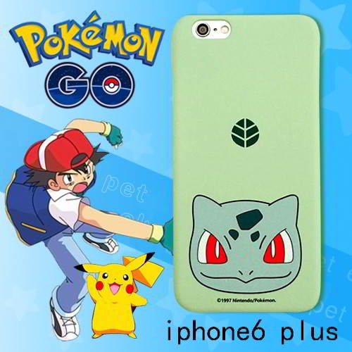 Pokemon Monster Pattern Iphone6 Plus Green RB5A5D 6pcs