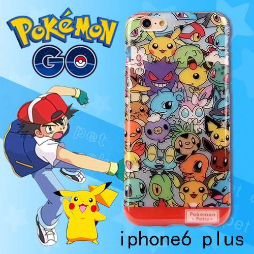 Pokemon Monster Pattern Iphone6 Plus Cases Multi Color 6pcs