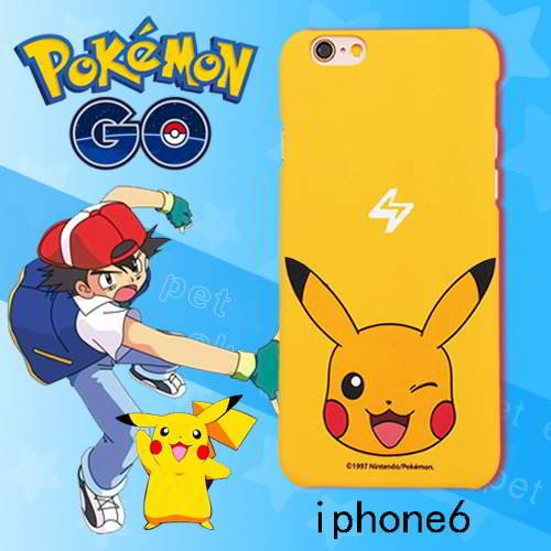 Pokemon Monster Pattern Iphone6s Cases Yellow RB5A58 6pcs