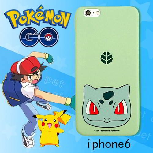 Pokemon Monster Pattern Iphone6s Cases Green RB5A57 6pcs