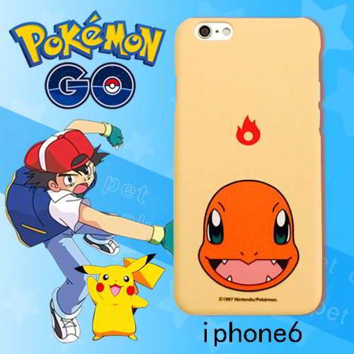 Pokemon Monster Pattern Iphone6s Cases Light Orange 6pcs