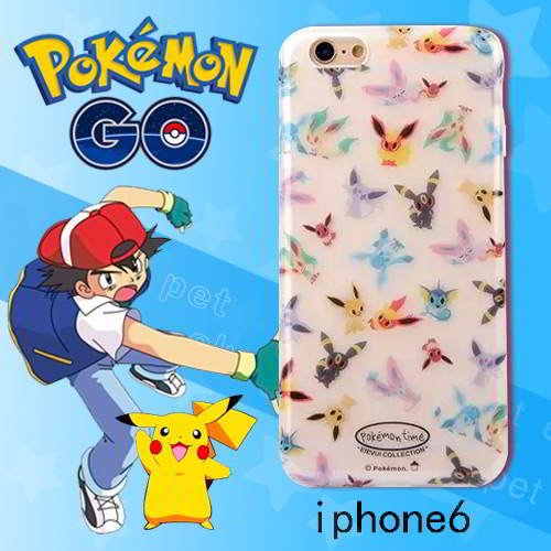 Pokemon Monster Pattern Iphone6s Cases White RB5BF5 6pcs