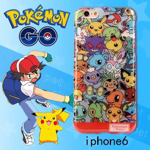Pokemon Monster Pattern Iphone6s Cases Multi Color 6pcs