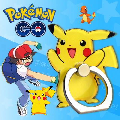 Pokemon Monster Pattern Ring Buckles Phone Hold Yellow 6pcs