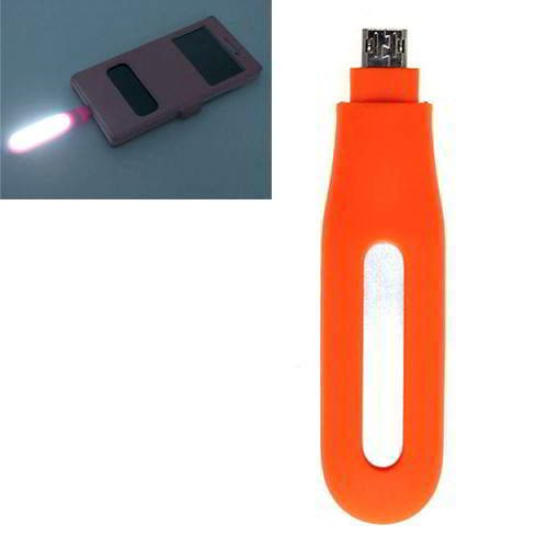Pure Color Hollow Out LED Fill Light Android Orange 6pcs