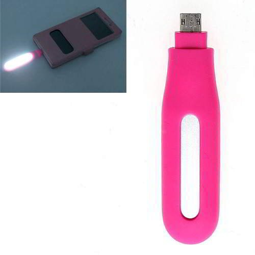 Pure Color Hollow Out LED Fill Light Android Plum Red 6pcs