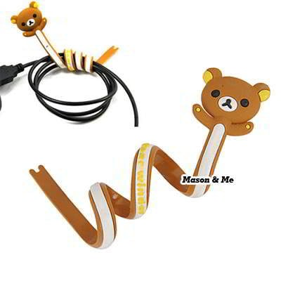 Korean Lovely Brown Bear Design Hub Winder General 6pcs