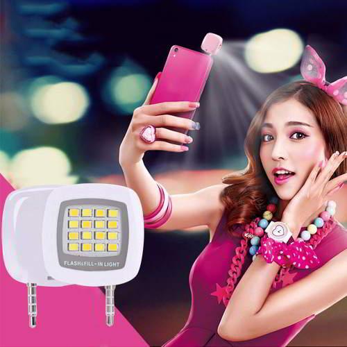 Square LED Beauty Selfie Timer White RBC7EE 6pcs