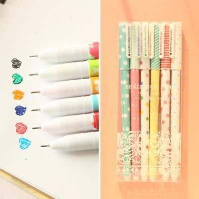 Dot Pattern Decorated Multi Color Ink RA76AC 6pcs