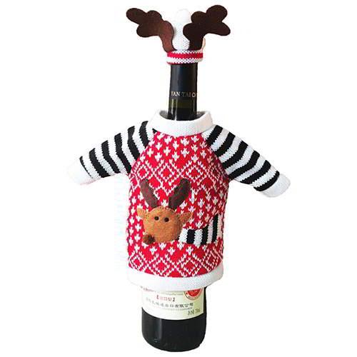 Cartoon Snowman Wine Cooler RC8DEC Red 6pcs