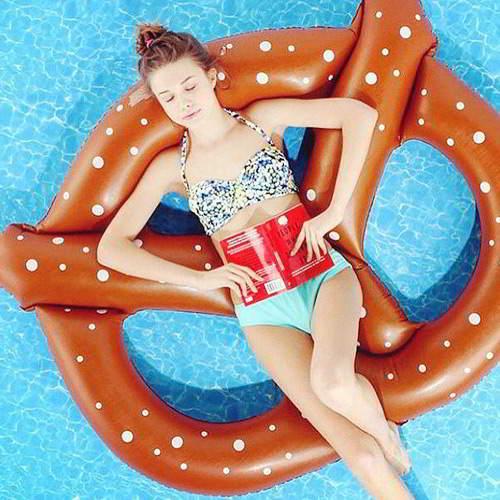 Dot Pattern Butterfly Swim Ring 6pcs RBDE5B-Brown
