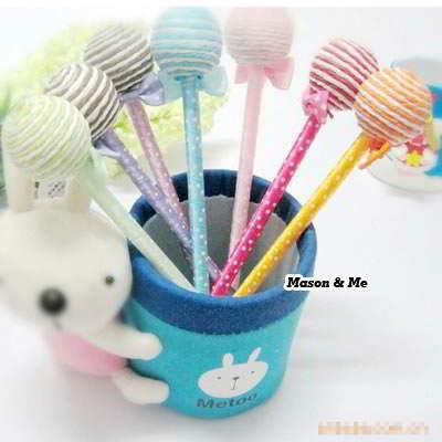 Korean Lollipop Shape Charm Gift Ball Pen YF6A86 6pcs