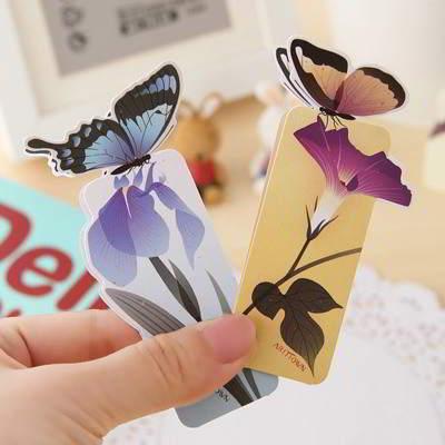 Butterfly Shape Design Color Random SCE76B 6pcs