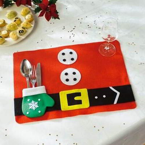 Glove Square Placemat RC8DED Red 6pcs