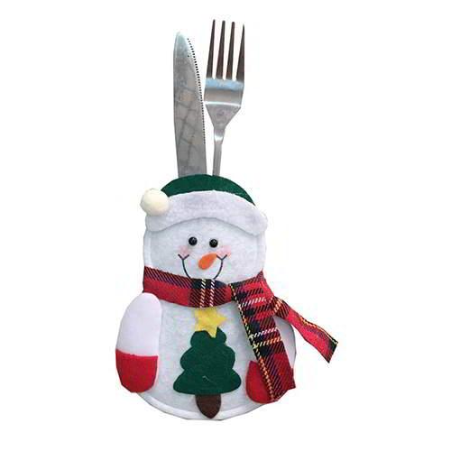 Heart Scraf Christmas Snowman Tableware RC8DEA White 6pcs