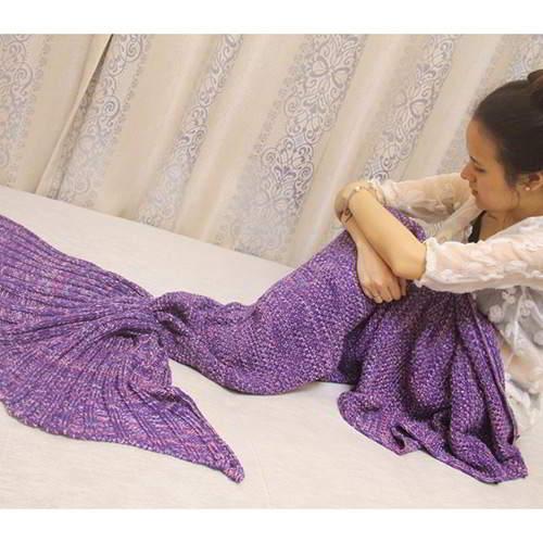 JRK Kids Mermaid Pure Color Blanket RBC7F8 Purple 6pcs