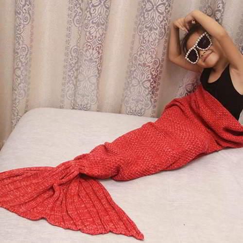JRK Kids Mermaid Pure Color Blanket RBC7F5 Red 6pcs