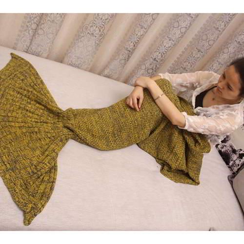 JRK Kids Mermaid Pure Color Blanket RBC7FC Yellow 6pcs